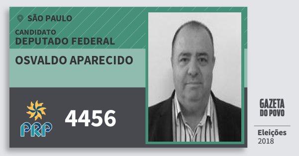 Santinho Osvaldo Aparecido 4456 (PRP) Deputado Federal | São Paulo | Eleições 2018