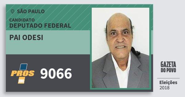 Santinho Pai Odesi 9066 (PROS) Deputado Federal | São Paulo | Eleições 2018
