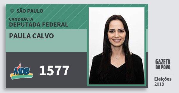 Santinho Paula Calvo 1577 (MDB) Deputada Federal | São Paulo | Eleições 2018