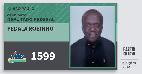 Santinho Pedala Robinho 1599 (MDB) Deputado Federal | São Paulo | Eleições 2018