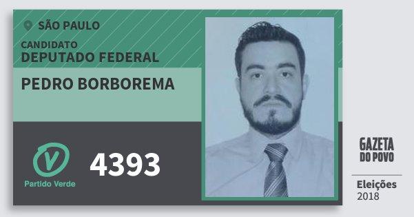 Santinho Pedro Borborema 4393 (PV) Deputado Federal | São Paulo | Eleições 2018