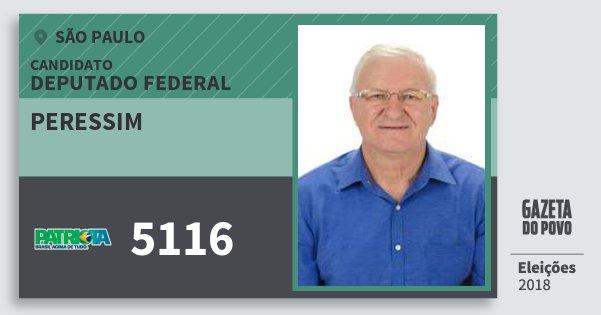 Santinho Peressim 5116 (PATRI) Deputado Federal | São Paulo | Eleições 2018