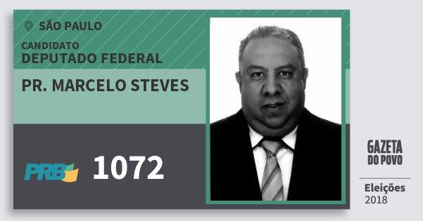 Santinho Pr. Marcelo Steves 1072 (PRB) Deputado Federal | São Paulo | Eleições 2018