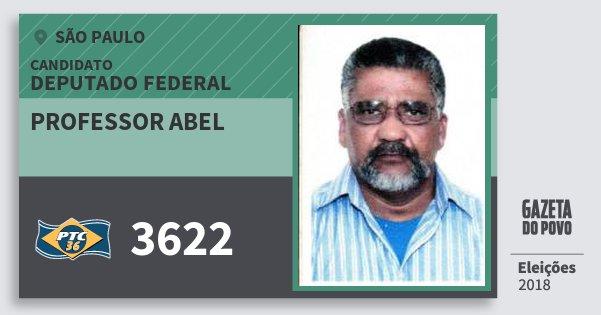 Santinho Professor Abel 3622 (PTC) Deputado Federal   São Paulo   Eleições 2018