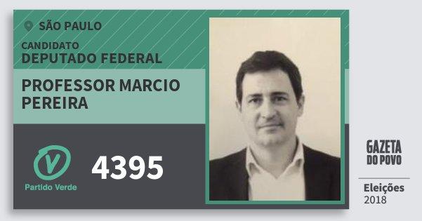 Santinho Professor Marcio Pereira 4395 (PV) Deputado Federal | São Paulo | Eleições 2018