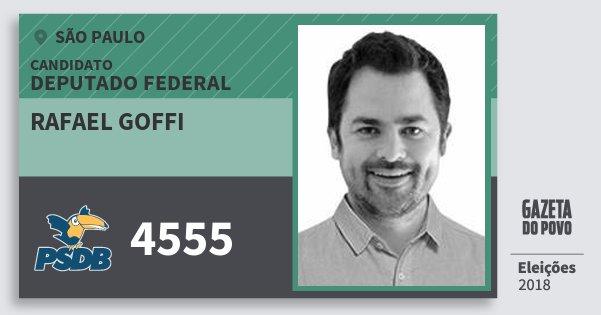 Santinho Rafael Goffi 4555 (PSDB) Deputado Federal | São Paulo | Eleições 2018