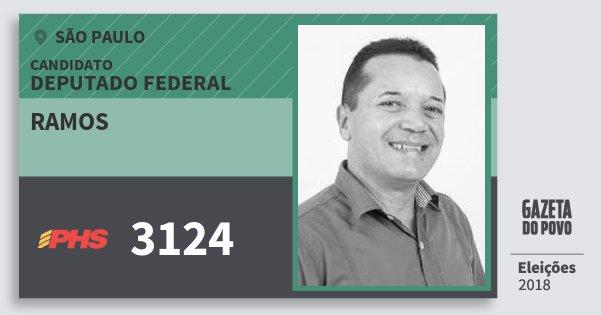 Santinho Ramos 3124 (PHS) Deputado Federal | São Paulo | Eleições 2018