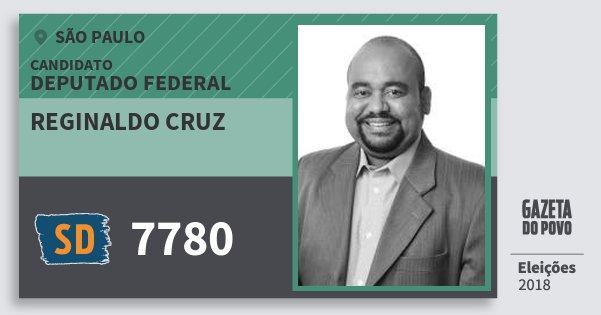 Santinho Reginaldo Cruz 7780 (SOLIDARIEDADE) Deputado Federal | São Paulo | Eleições 2018