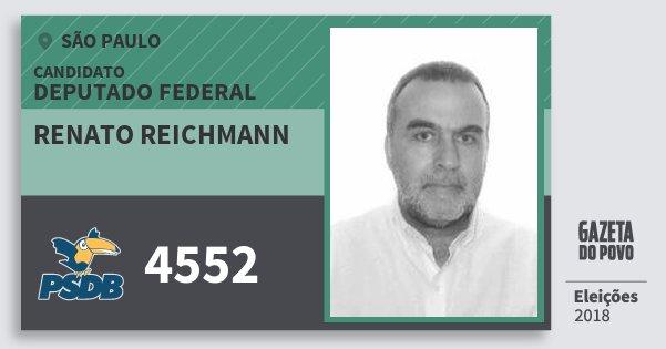 Santinho Renato Reichmann 4552 (PSDB) Deputado Federal | São Paulo | Eleições 2018