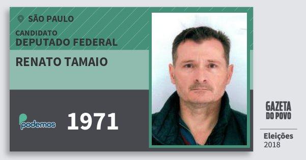 Santinho Renato Tamaio 1971 (PODE) Deputado Federal | São Paulo | Eleições 2018