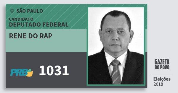 Santinho Rene do Rap 1031 (PRB) Deputado Federal | São Paulo | Eleições 2018