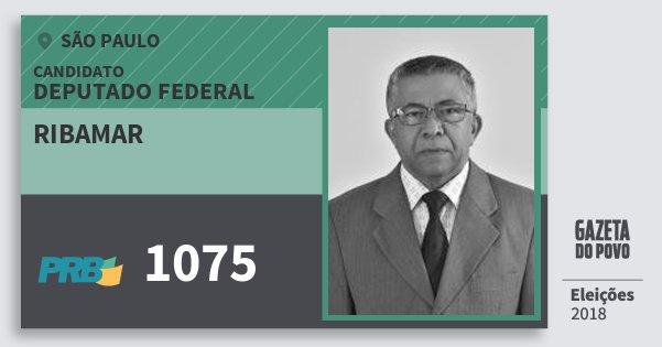 Santinho Ribamar 1075 (PRB) Deputado Federal | São Paulo | Eleições 2018