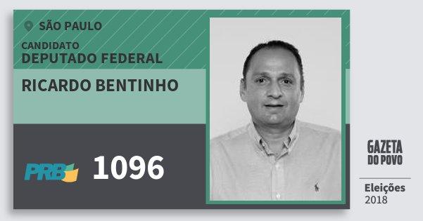 Santinho Ricardo Bentinho 1096 (PRB) Deputado Federal | São Paulo | Eleições 2018