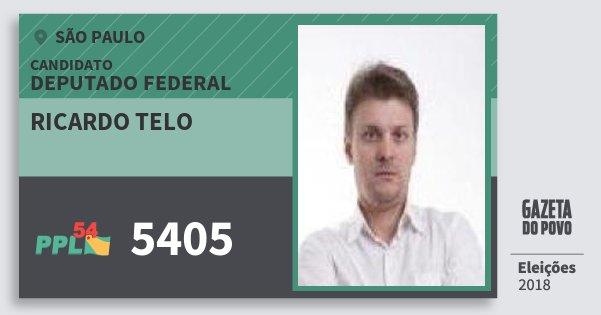 Santinho Ricardo Telo 5405 (PPL) Deputado Federal | São Paulo | Eleições 2018