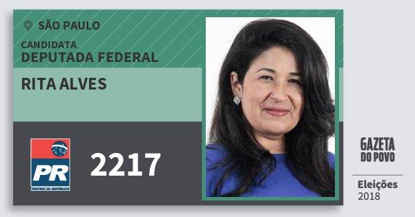 Santinho Rita Alves 2217 (PR) Deputada Federal | São Paulo | Eleições 2018
