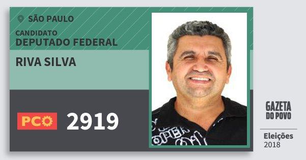 Santinho Riva Silva 2919 (PCO) Deputado Federal | São Paulo | Eleições 2018