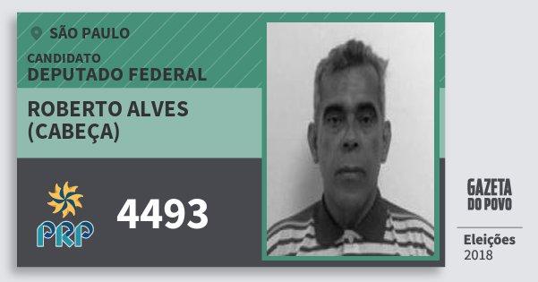 Santinho Roberto Alves (Cabeça) 4493 (PRP) Deputado Federal | São Paulo | Eleições 2018