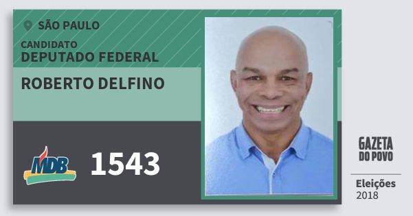 Santinho Roberto Delfino 1543 (MDB) Deputado Federal | São Paulo | Eleições 2018
