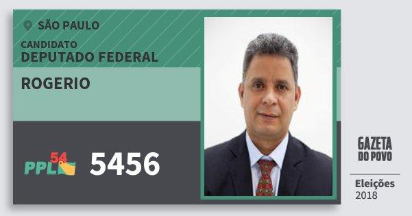 Santinho Rogerio 5456 (PPL) Deputado Federal | São Paulo | Eleições 2018