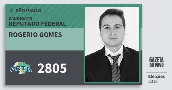Santinho Rogerio Gomes 2805 (PRTB) Deputado Federal | São Paulo | Eleições 2018