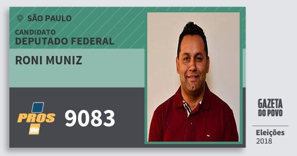 Santinho Roni Muniz 9083 (PROS) Deputado Federal | São Paulo | Eleições 2018