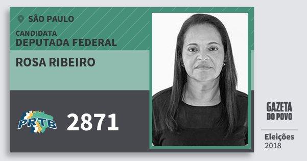 Santinho Rosa Ribeiro 2871 (PRTB) Deputada Federal | São Paulo | Eleições 2018