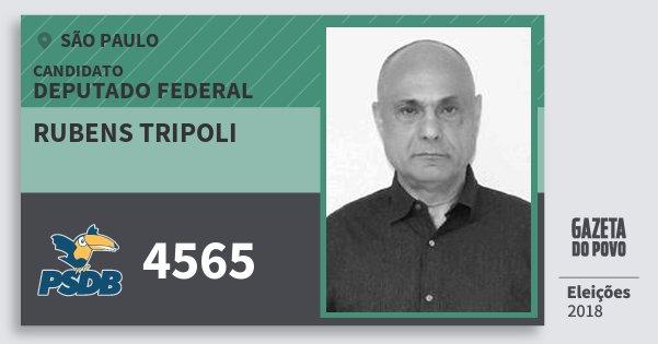 Santinho Rubens Tripoli 4565 (PSDB) Deputado Federal | São Paulo | Eleições 2018
