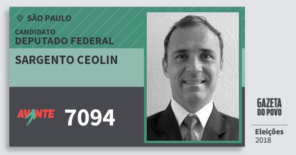 Santinho Sargento Ceolin 7094 (AVANTE) Deputado Federal   São Paulo   Eleições 2018