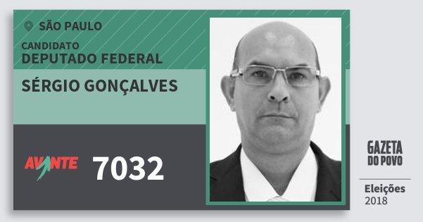 Santinho Sérgio Gonçalves 7032 (AVANTE) Deputado Federal | São Paulo | Eleições 2018