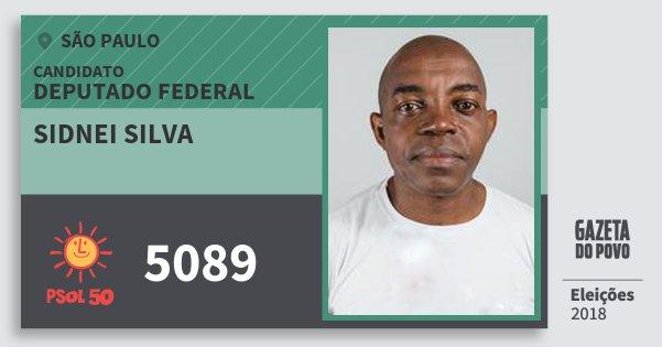 Santinho Sidnei Silva 5089 (PSOL) Deputado Federal | São Paulo | Eleições 2018