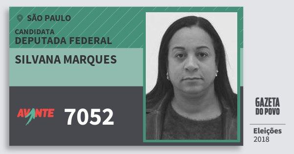 Santinho Silvana Marques 7052 (AVANTE) Deputada Federal   São Paulo   Eleições 2018