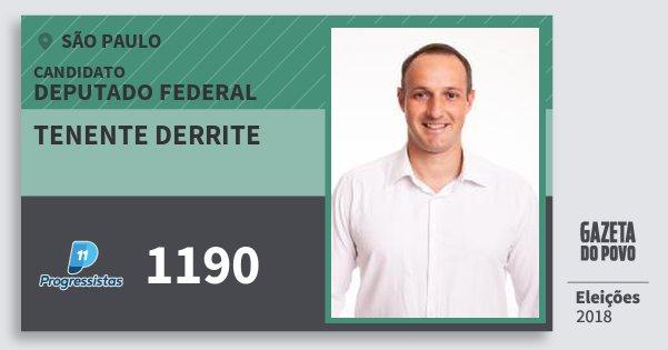 Santinho Tenente Derrite 1190 (PP) Deputado Federal | São Paulo | Eleições 2018