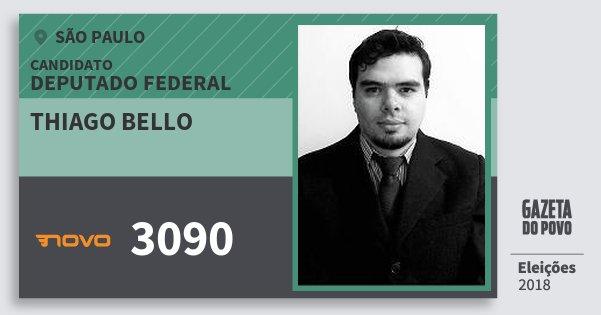 Santinho Thiago Bello 3090 (NOVO) Deputado Federal  8a8a06af257