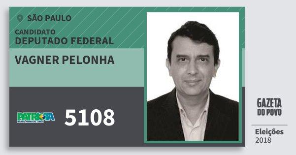 Santinho Vagner Pelonha 5108 (PATRI) Deputado Federal   São Paulo   Eleições 2018