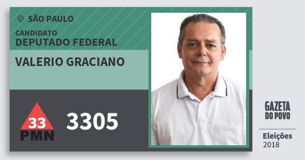 Santinho Valerio Graciano 3305 (PMN) Deputado Federal | São Paulo | Eleições 2018