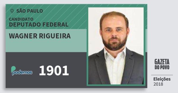 Santinho Wagner Rigueira 1901 (PODE) Deputado Federal | São Paulo | Eleições 2018