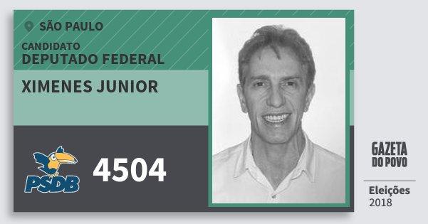 Santinho Ximenes Junior 4504 (PSDB) Deputado Federal   São Paulo   Eleições 2018