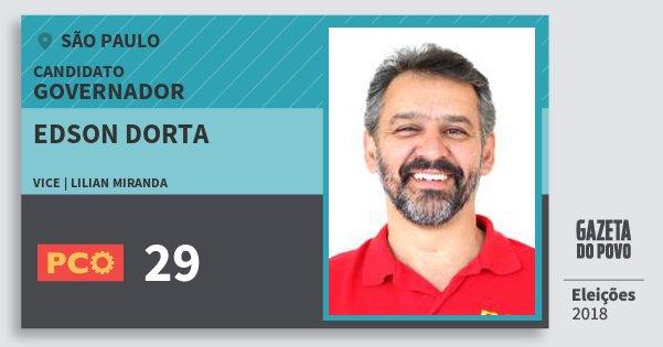 Santinho Edson Dorta 29 (PCO) Governador | São Paulo | Eleições 2018