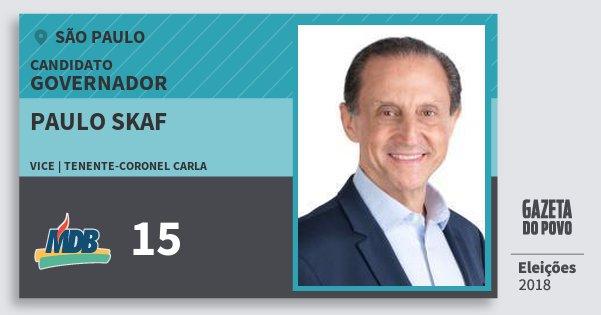 Santinho Paulo Skaf 15 (MDB) Governador | São Paulo | Eleições 2018