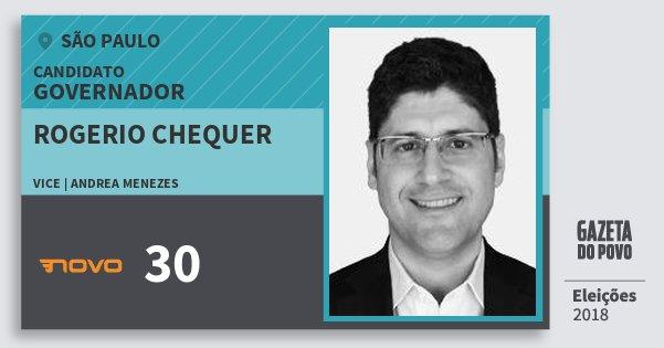 Santinho Rogerio Chequer 30 (NOVO) Governador | São Paulo | Eleições 2018