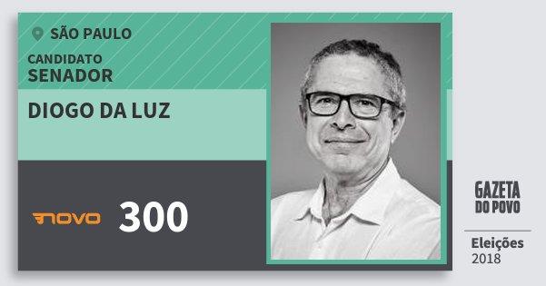 Santinho Diogo da Luz 300 (NOVO) Senador | São Paulo | Eleições 2018