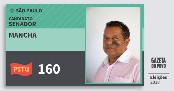 Santinho Mancha 160 (PSTU) Senador | São Paulo | Eleições 2018