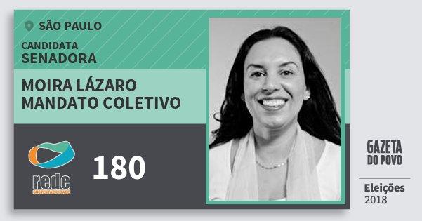 Santinho Moira Lázaro Mandato Coletivo 180 (REDE) Senadora | São Paulo | Eleições 2018