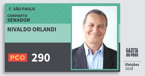 Santinho Nivaldo Orlandi 290 (PCO) Senador | São Paulo | Eleições 2018