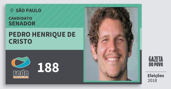 Santinho Pedro Henrique de Cristo 188 (REDE) Senador | São Paulo | Eleições 2018