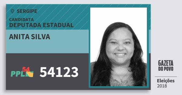 Santinho Anita Silva 54123 (PPL) Deputada Estadual | Sergipe | Eleições 2018