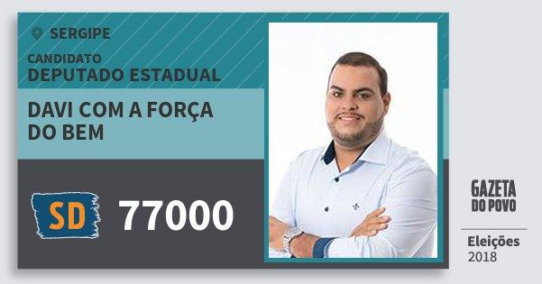 Santinho Davi Com A Força do Bem 77000 (SOLIDARIEDADE) Deputado Estadual   Sergipe   Eleições 2018