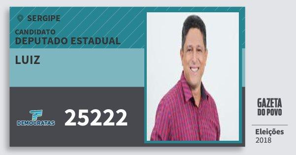 Santinho Luiz 25222 (DEM) Deputado Estadual | Sergipe | Eleições 2018