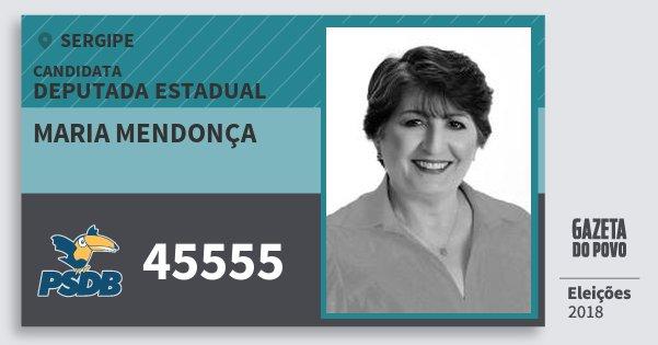 Santinho Maria Mendonça 45555 (PSDB) Deputada Estadual | Sergipe | Eleições 2018