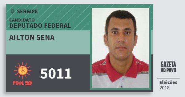 Santinho Ailton Sena 5011 (PSOL) Deputado Federal | Sergipe | Eleições 2018